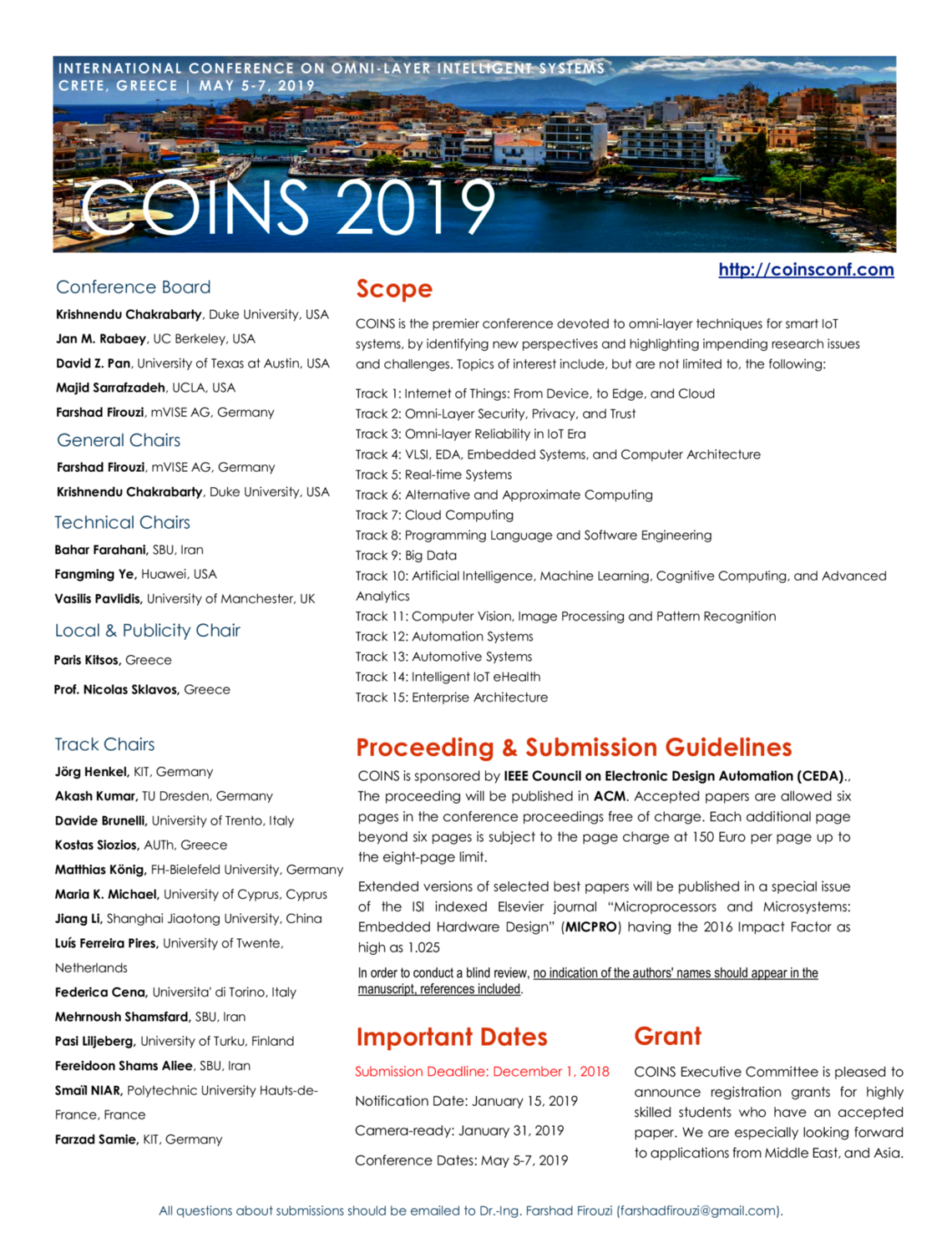 Call For Papers Coins 2019 Ieee Council On Electronic Design Automation