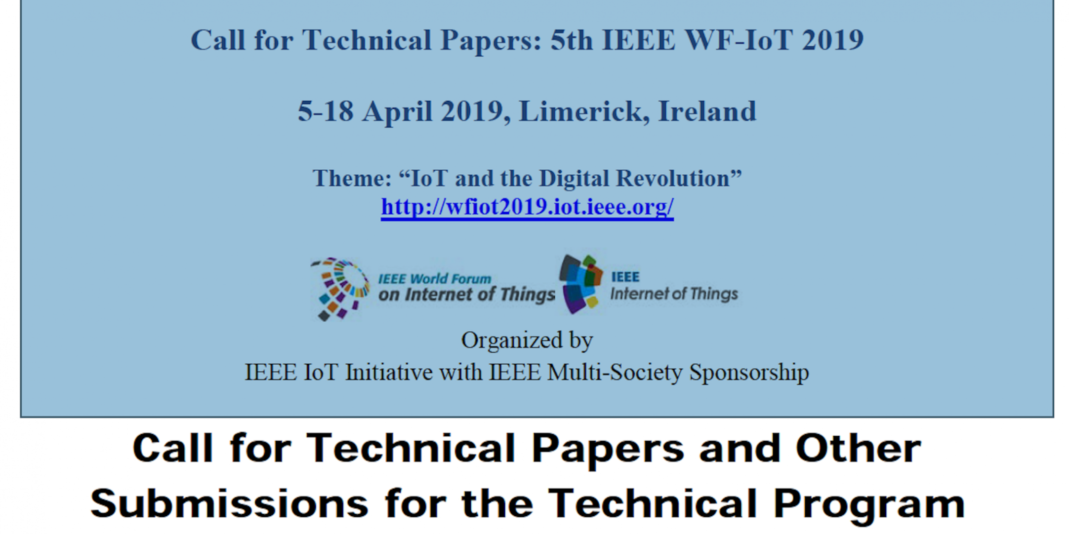 Submission Deadlines Extended for WF-IoT 2019! | IEEE